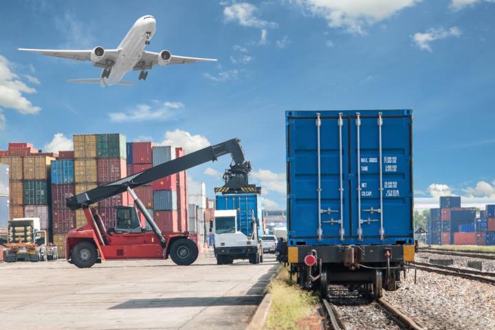 transportation train plane and truck
